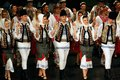 TIMISOARA, ROMANIA- 12. 10.2014 Romanian folklore dancers Royalty Free Stock Photo