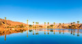 Timna lake an artificial in national park in israel Stock Image
