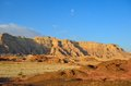 Timna valley historical area rich copper ore southwestern arabah israel Royalty Free Stock Photos