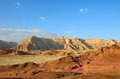 Timna valley the historical area is rich in copper ore the southwestern arabah israel Royalty Free Stock Photo