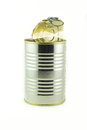 Tin can empty container for food Stock Photography