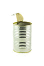 Tin can empty container for food Royalty Free Stock Photos