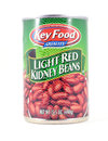 Tin can of Key Food Quality Light Red Kidney Beans Royalty Free Stock Photo