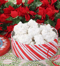 Tin of Christmas Cookies Royalty Free Stock Photo