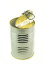 Tin empty container for food Royalty Free Stock Photos