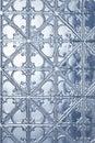 Tin Metal Christmas Winter Background Royalty Free Stock Photo