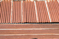 Tin old roof with rust home Royalty Free Stock Photo