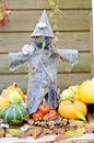 Tin scarecrow Royalty Free Stock Images