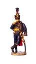 Tin soldier austrian hussar on white background Stock Photo