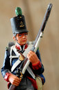 Tin soldier nineteen century figure Royalty Free Stock Photography