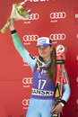 Tina maze bansko bulgaria march slo takes second place during the audi fis alpine ski world cup ladies super g on march in bansko Stock Images