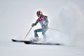 Tina sutton memorial slalom ski competition loon mountain usa january unidentified participant of junior race on january at Stock Image