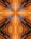 Étincelles du grinder5 de la soudeuse Images libres de droits