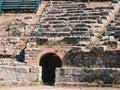 Tindari Ancient Amphitheatre Ruins in Sicily Italy Archeology Discovery Ancient Drama Theathre Mythology Royalty Free Stock Photo