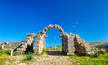 Tingis Gate at Volubilis, a UNESCO world heritage site in Morocco Royalty Free Stock Photo