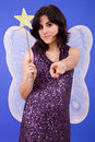 Tinkerbell young beautiful woman dressed as studio picture Stock Photo