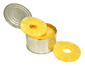Tinned Pineapple Rings Royalty Free Stock Photo