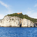 Tino island view near porto venere Stock Photo