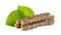 Tinospora cordifolia herb  on white Royalty Free Stock Photo
