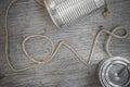 Tins telephone Royalty Free Stock Photo