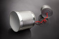 Tins telephones Royalty Free Stock Photo