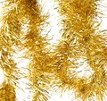 Tinsel christmas decoration on a white background Royalty Free Stock Photo