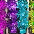 Tinsel colorful as a detailed background image Stock Photography