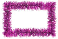 Tinsel frame Royalty Free Stock Photo