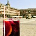 Tinto de verano in Plaza Mayor in Madrid, Spain Royalty Free Stock Photo