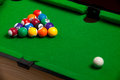 Tiny billiards game toy Royalty Free Stock Photo