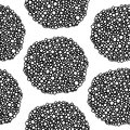 Tiny black and white dots dark pattern Royalty Free Stock Photo