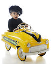 Tiny Cabbie Royalty Free Stock Image