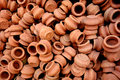 Tiny Clay Pots Royalty Free Stock Photo