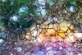 Tiny colorful bubbles. Macro shot Royalty Free Stock Photo