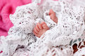 Tiny feet of a newborn baby Stock Photography