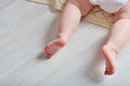 tiny foot of newborn baby Royalty Free Stock Photo