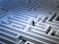 Tiny man in a maze an endless Stock Photo
