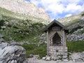 Tiny mountain chapel Royalty Free Stock Photo