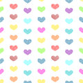 Tiny Polka dot hearts seamless background