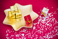 Tiny present, Christmas and party decoration Royalty Free Stock Photos