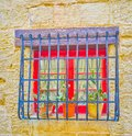 The tiny red window, Naxxar, Malta Royalty Free Stock Photo