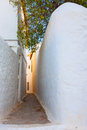 Tiny walk paths in Greek island Hydra Royalty Free Stock Photography