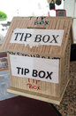 Tip Box Royalty Free Stock Photo
