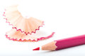 Tip point of pink pencils Royalty Free Stock Images
