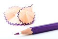 Tip point of violet pencils Royalty Free Stock Photography
