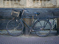 Tipical bicycle on amsterdam street holland netherlands europe Royalty Free Stock Image