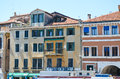 Tipical buildings in venice italy old colorful with beautiful windows Stock Photo