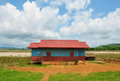 Tipical laotian country house Stock Images