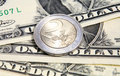 Tipo de cambio euro del dólar   Imagenes de archivo
