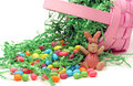 Tipped Easter Basket Royalty Free Stock Image
